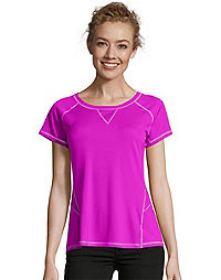 Hanes Sport™ Women's Performance Tee with Mesh Insets