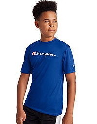 Champion Youth Double Dry Logo Tee