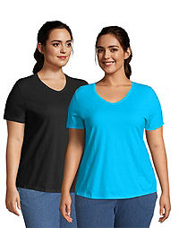 JMS Cotton Jersey V-Neck Short Sleeve T-Shirt, 2 Pack