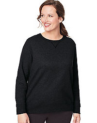 JMS ComfortSoft® EcoSmart® V-Notch Crewneck Women's Sweatshirt
