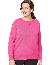 Just My Size ComfortSoft® EcoSmart® V-Notch Crewneck Women s Sweatshirt c570b3d672