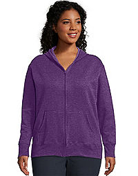 a50dc45db69 Just My Size ComfortSoft® EcoSmart® Fleece Full-Zip Women s Hoodie.  Bestseller. VioletSplendorHeather Color ...