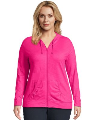 Just My Size Slub-Cotton Full-Zip Lightweight Women's Hoodie