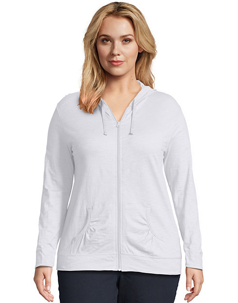 1af45b51a64 Just My Size Slub-Cotton Full-Zip Lightweight Women s Hoodie