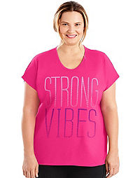 JMS Active Dolman Sleeve Graphic Tee