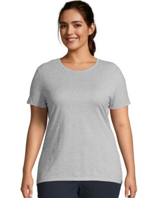 Just My Size Cotton Jersey Short-Sleeve Crewneck Women's Tee