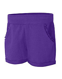 Hanes Girls' Ruffle Pocket Short
