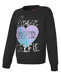 Hanes Girls' EcoSmart® Graphic Crewneck Sweatshirt