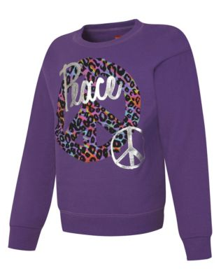 Hanes Girls' EcoSmart® Graphic Crewneck Sweatshirt