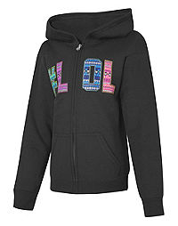 Hanes Girls' EcoSmart® Full-Zip Hoodie Graphic Sweatshirt