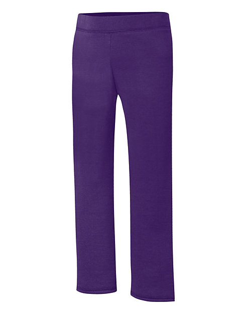 Hanes ComfortSoft EcoSmart® Girls' Open Bottom Leg Sweatpants