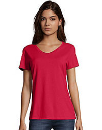 Hanes Nano-T® Women's V-Neck T-Shirt 2-Pack
