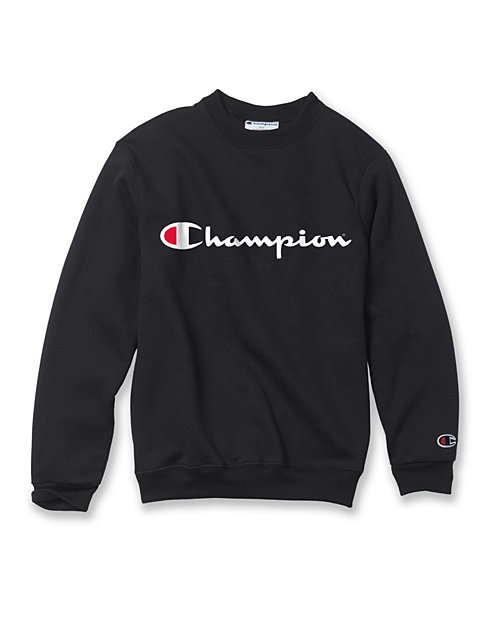 Champion Youth Fleece Sweatshirt, Script Logo