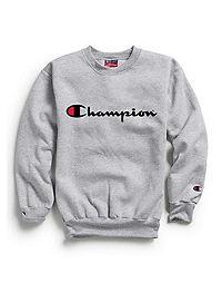 Champion Youth Fleece Sweatshirt, Script Logo