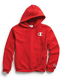 Champion Youth Fleece Pullover Hoodie, C Logo