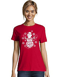 Hanes Women's Baby It's Cold Outside Short-Sleeve Tee