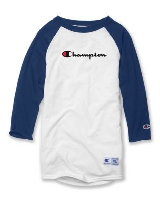Champion Youth Baseball Tee, Script Logo