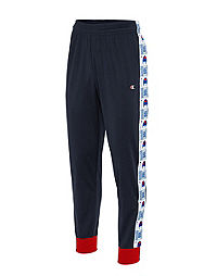 Champion Life Men's Track Pants, Jock Tag Logo Taping
