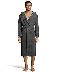 Hanes Men's 1901 Heritage Fleece Hooded Robe