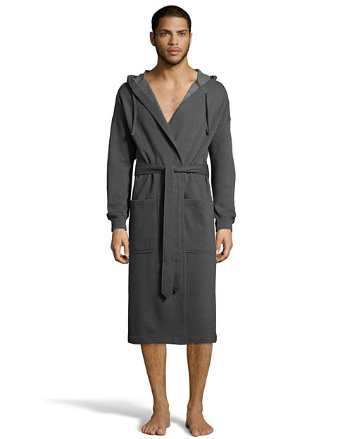 Hanes Men's 1901 Heritage Fleece Hooded Robe
