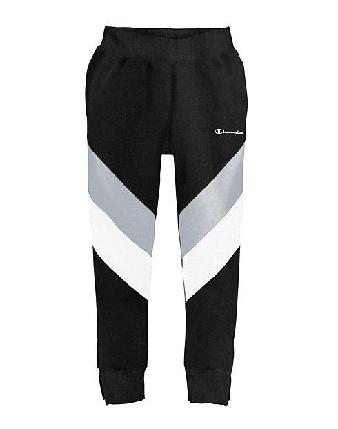 b75df25c Champion Life® Men's Reverse Weave® Colorblock Track Pants, Script Logo |  Champion