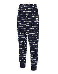 Champion Men's Powerblend Joggers, All Over Logo