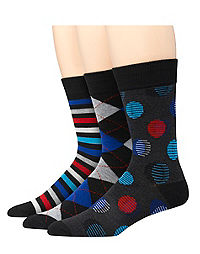 Hanes Premium Men's Assorted Dress Socks 3-Pack