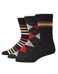 Hanes Premium Men's Assorted Dress Socks 3-Pack