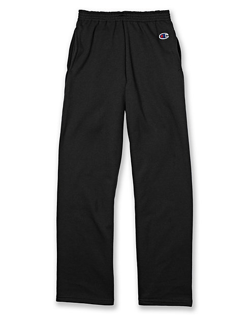 Champion Eco® Youth Double Dry® Fleece Open Bottom Sweatpant with Pockets