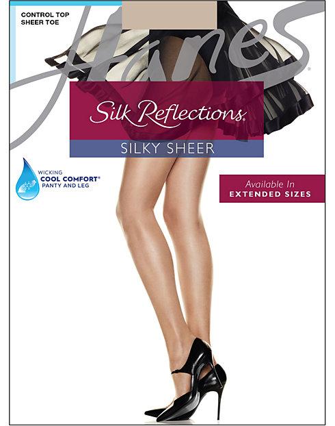 9dcfbdb47bd Hanes Control Top Pantyhose Silk Reflections