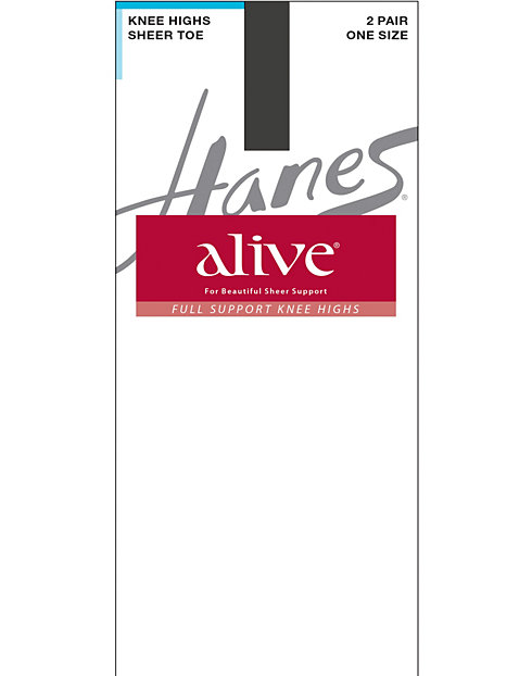 Hanes Alive Full Support Sheer Knee Highs 2-Pack