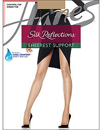 8677efab6 Hanes Silk Reflections Sheerest Support Control Top Sheer Toe
