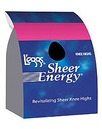 L'eggs  Sheer Energy Knee Highs, Sheer Toe 5-Pack