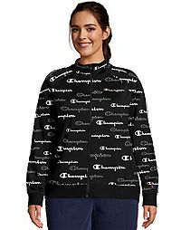 Champion Women's Athletics Plus Track Jacket, All Over Logo