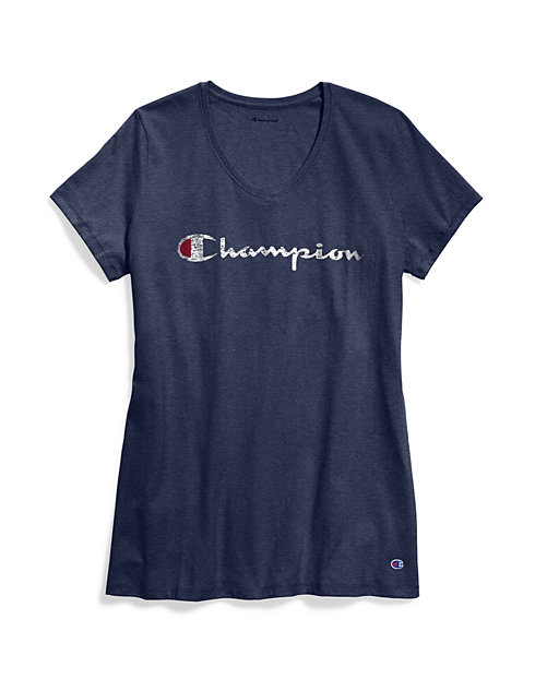 7fec548b579f3 Champion Women s Plus Jersey V-Neck Tee