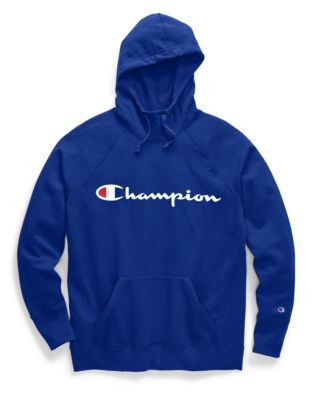 Champion Women's Plus Powerblend® Fleece Pullover Hoodie, Two-Color Script Logo
