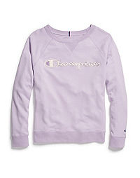 e21e7f57 Champion Women's Plus Heritage French Terry Crew, Chainstitch Logo