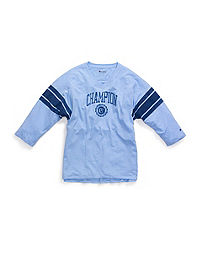 Champion Women's Plus Heritage Football Tee, Collegiate Logo