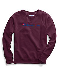 Champion Women's Plus Powerblend® Fleece Crew, Script Logo