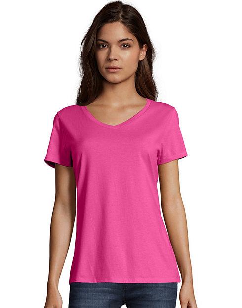 36051bd77 Hanes Women s Nano-T V-Neck T-Shirt