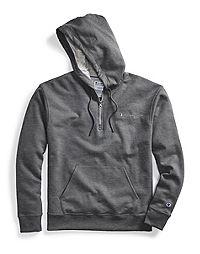 Champion Men's Powerblend® Fleece Quarter Zip Hoodie, Embroidered Logo