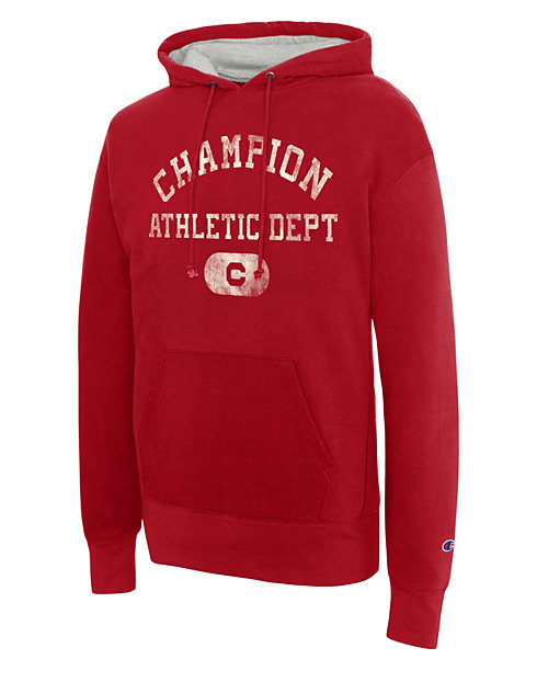 Champion Men's Heritage Fleece Pullover Hoodie, Athletics Dept.
