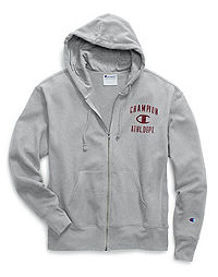 Champion Men's Heritage Fleece Zip Hoodie, Distressed C Logo