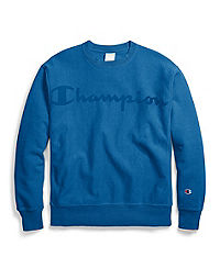 Champion Life® Men's Garment Dyed Reverse Weave® Crew, Clear Gel Logo