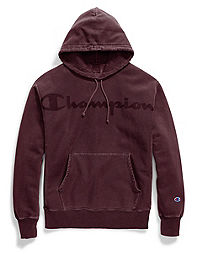 Champion Life® Men's Garment Dyed Reverse Weave® Hood, Clear Gel Logo