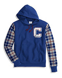 Champion Life® Men's Reverse Weave® Pullover Plaid Hoodie