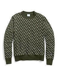 Champion Life® Men's Reverse Weave® Crew, All-over Logo
