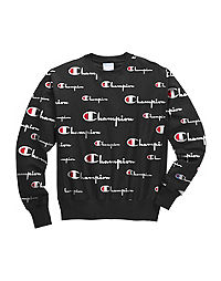 Champion Life® Men's Reverse Weave® Crew, All Over Logo
