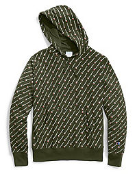 Champion Life® Men's Reverse Weave® Pullover Hood, All-over Logo