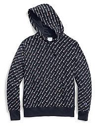 Champion Life® Men's Reverse Weave® Pullover Hood, All-over Logo